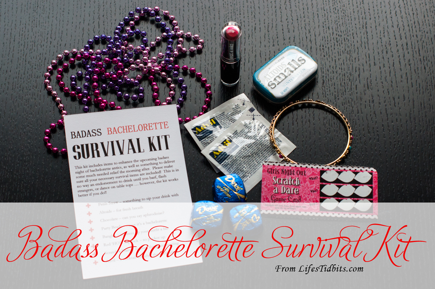 Badass Bachelorette Survival Kit | Wedding | Life's Tidbits