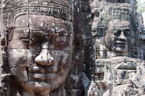 Bayon, Angkor Wat, Cambodia. Just recently vacationed here and it's absolutely stunning .