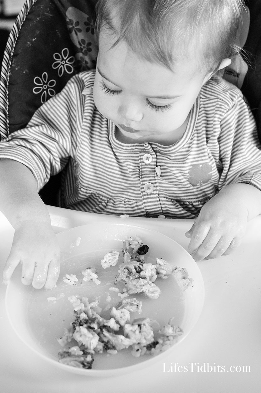 Toddle Eating Chicken & Broccoli Casserole - Family Dinner Ideas | Life's Tidbits