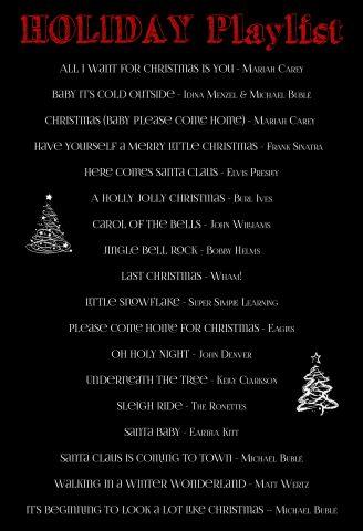 Christmas Holiday Playlist | Life's Tidbits