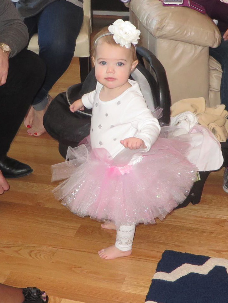 1st Birthday Winter Onederland Snow Baby Outfit - Pink/Sparkle tutu and flower headband | Life's Tidbits