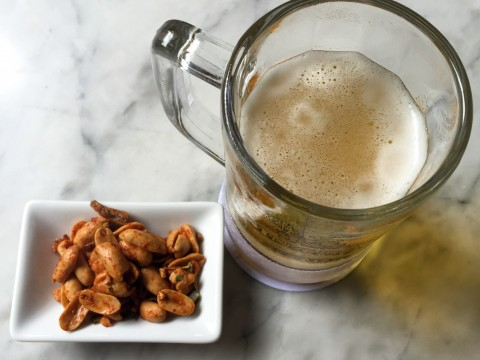 Beer and Spicy Peanuts at Jim Thompson House & Museum Restaurant | Bangkok, Thailand | Life's Tidbits