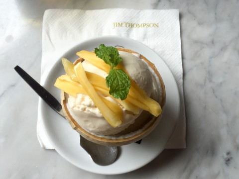 Coconut Ice cream at Jim Thompson House & Museum | Bangkok, Thailand | Life's Tidbits