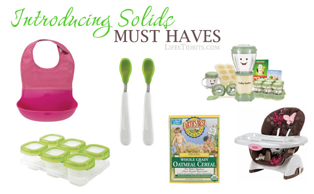 Introducing Solids Must Haves Items | Life's Tidbits