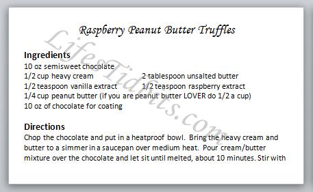 Raspberry Peanut Butter Truffles Recipe | Life's Tidbits