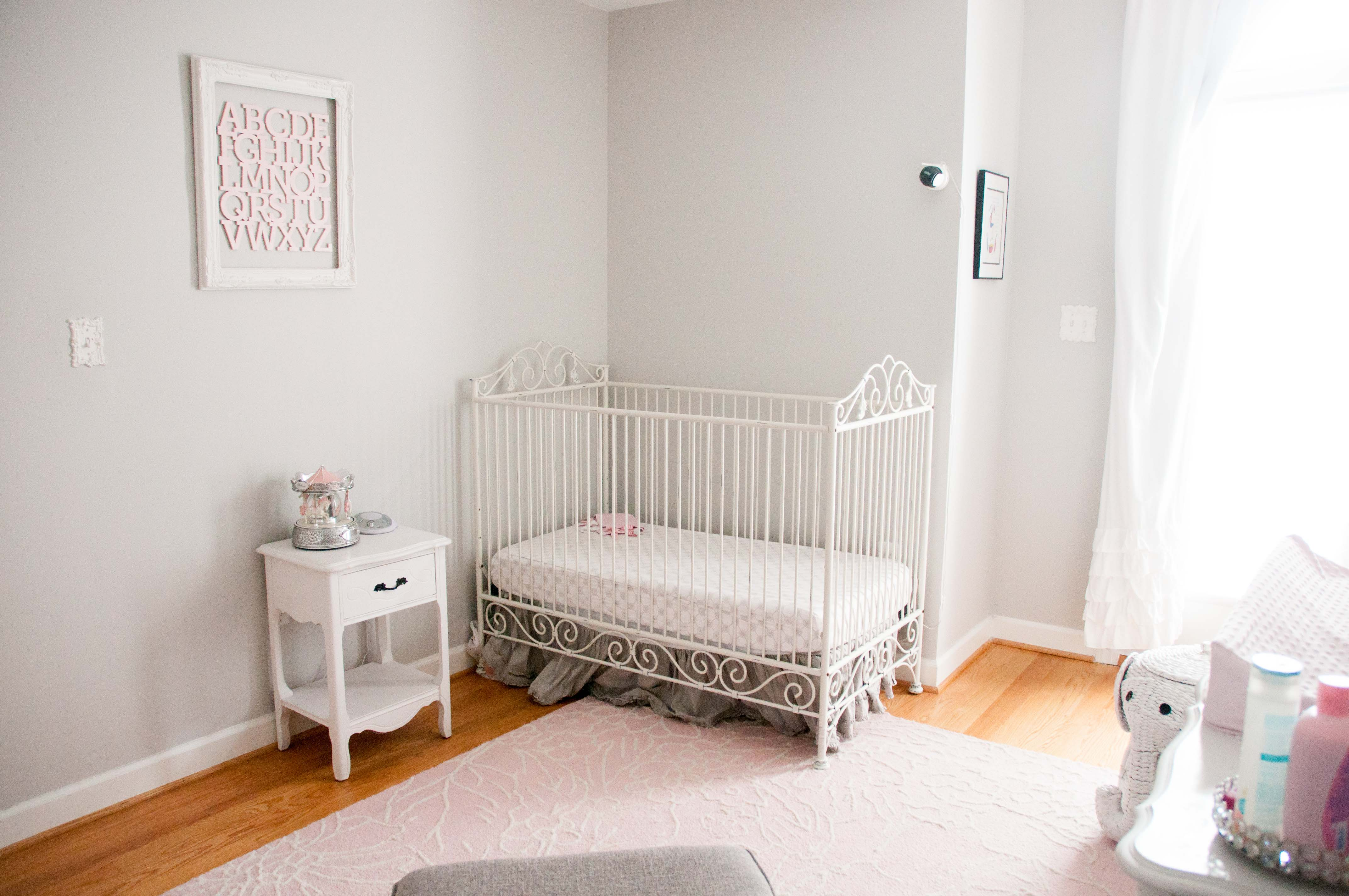 Light Pink, Gray and White Shabby Chic Nursery | Life's Tidbits