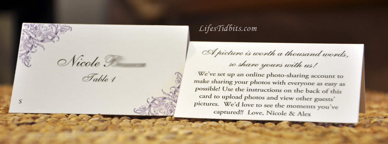 DIY Wedding Escort Cards, Table Tents | Life's Tidbits