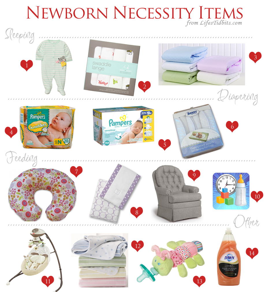 newborn necessities and must haves / Baby Registry | Life's Tidbits