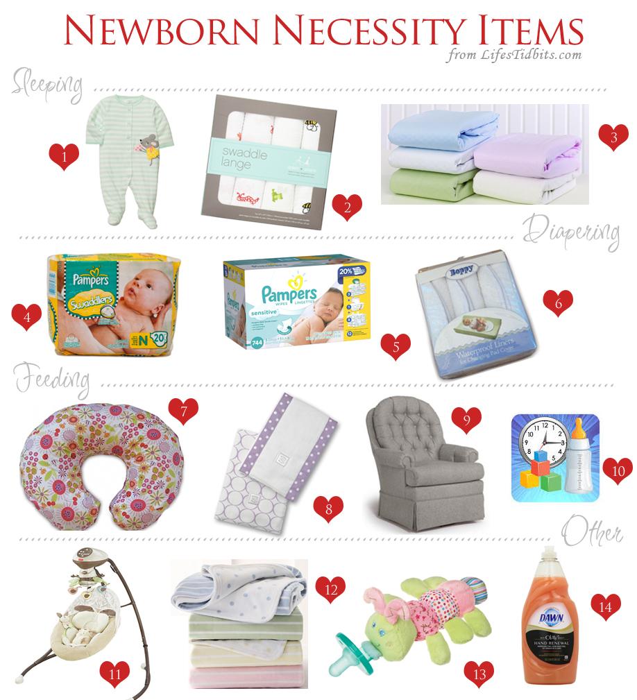 Newborn Necessity Items - Life's Tidbits